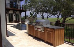 Naturekast Cypress outdoor kitchen cabinets