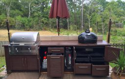 Naturekast full access outdoor kitchen cabinets
