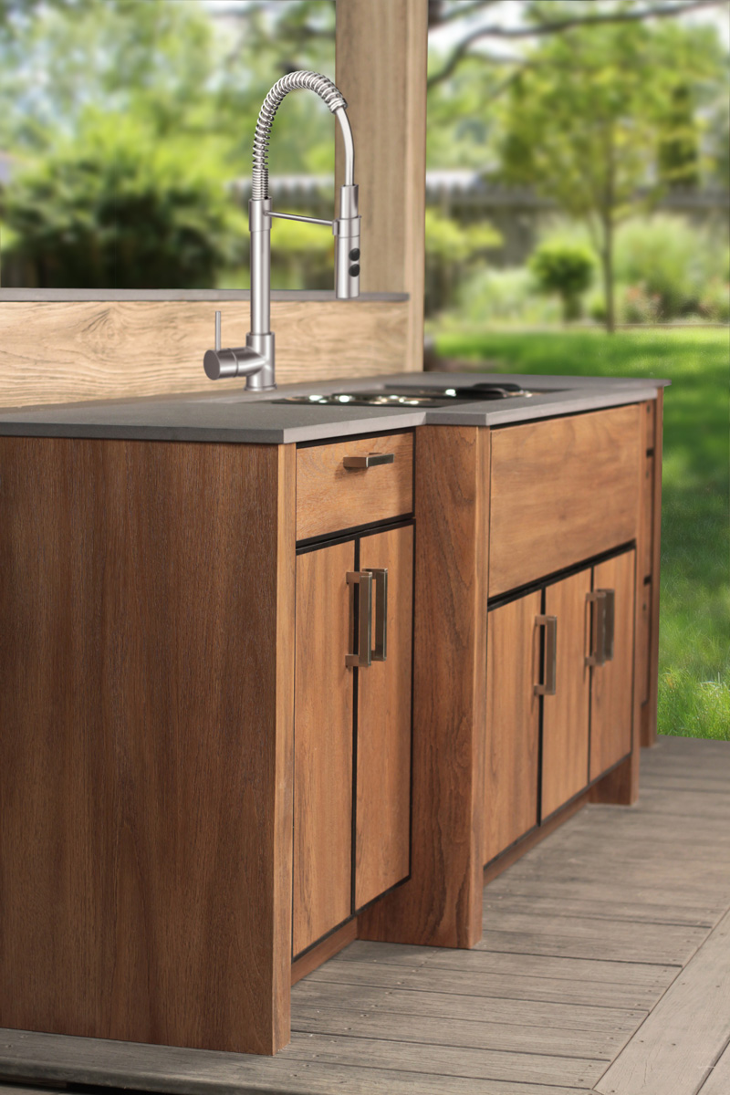 outdoor kitchen sink naturekast weatherproof cabinetry 1306