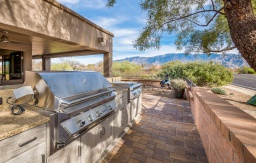 Outdoor kitchen desert oasis in Tucson featuring NatureKast