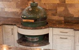 Bowed cabinet Big Green Egg