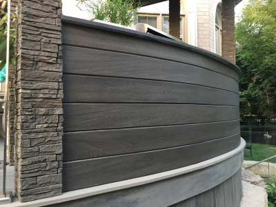 Shiplap for curved wall