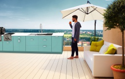 contemporary outdoor cabinets with grill and workstation euro seafoam
